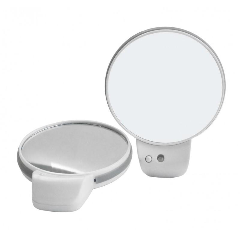 Espejo doble cara y aumento con luz led guiboga for Espejo aumento con luz
